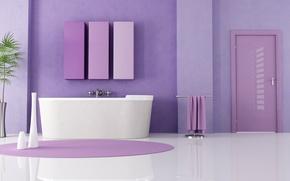 Picture design, style, room, lilac, Villa, color, interior, bathroom