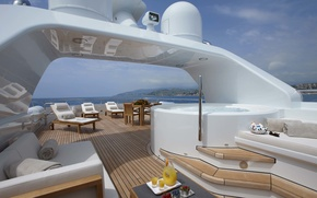 Picture luxury, motor, area, super yacht, spapool, sundeck
