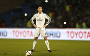 Wallpaper the ball, Football, liga bbva, Spain, stand, penalty, Portugal, Cristiano Ronaldo, goal, Ronaldo, Ronaldo, player