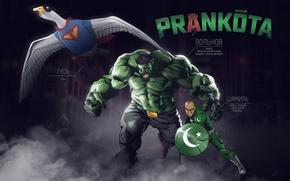 Picture Humor, Art, Superheroes, Volnov, Goose, Shamil, Prankote, Prankota