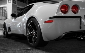 Wallpaper white, corvette c3retro, drives
