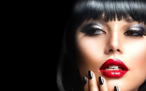 Picture look, girl, model, makeup, Anna Subbotina