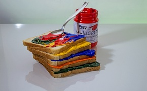 Picture paint, food, humor, bread