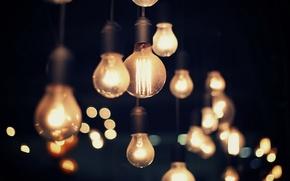 Wallpaper lamp, macro, light