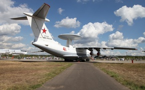 Picture people, exhibition, the plane, the airfield, early, A-50, far, detection, radar, Il-76MD, and management, Beriev …