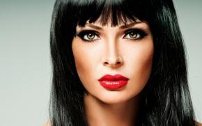 Picture look, face, makeup, Brunette