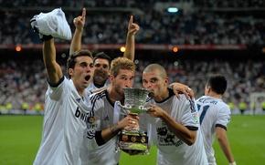 Picture 2012, football, Real Madrid, Pepe, Super Copa, A.Arbeloa, S.Ramos, Adan