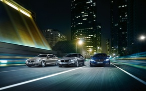 Picture road, the city, speed, skyscraper, BMW, BMW M4, BMW 4-Series