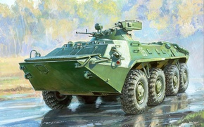 Picture figure, MA-7, APC, tower, BTR-70
