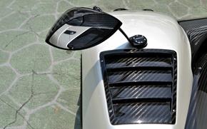 Picture mirror, supercar, carbon, Pagani, supercar, carbon, zonda, cinque, mirror, probe, Pagani