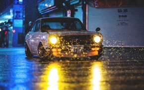 Picture light, night, light, night, datsun, Datsun