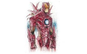 Picture figure, costume, armor, Iron man, Iron man