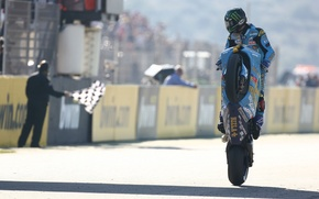 Picture Wallpaper, race, sport, Moto, flag, motorcycle, wallpaper, racer, John Hopkins, for the buck, finish, Rizla …