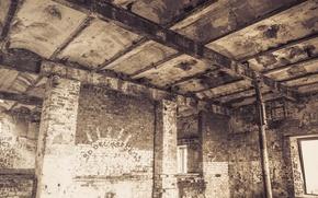 Picture house, destruction, ruins, abandoned