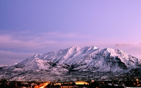 Picture city, the city, Timpanogos, Usa, Utah