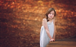 Picture sadness, girl, the colors of autumn, Melanie Weyer