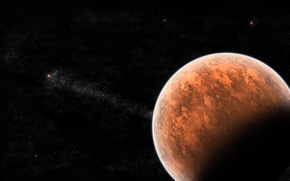 Picture red, black, planet