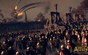 Picture battle, storm, volley, total war, strategy, total war, Barbara, creative assembly, attila