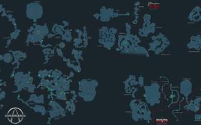 Wallpaper map, Borderlands, detailed