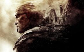 Picture game, art, gears of war, Marcus Fenix, games, art, marcus, gears of war
