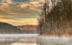 Picture Landscape, fog, Tucker Lake