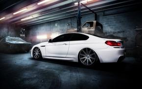 Picture BMW, garage, BMW, white, white