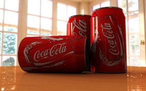 Picture table, Coca-cola, Beauty render