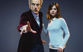 Picture look, girl, background, actress, actor, male, Doctor Who, Doctor Who, Peter Capaldi, Peter Capaldi, Clara ...