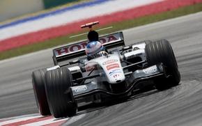 Picture Race, Track, Formula-1, The car, Jenson Button, Jenson Button, Formula 1, BAR-Honda