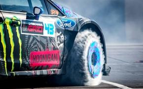 Picture Ford, Smoke, Wheel, Ford, Drift, Drift, Block, Ken, Fiesta, Fiesta, Unit, Ken