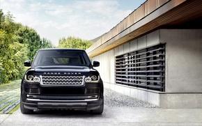 Picture black, lights, Land Rover, Range Rover