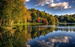Picture autumn, nature, lake, Park