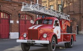 Picture machine, fire, Soviet, GAZ-51