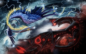 Wallpaper battle, The fight, dragons