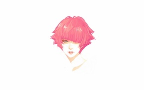 Picture portrait, Girl, head, red, short hair