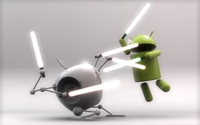 Picture apple, fight, swords, android