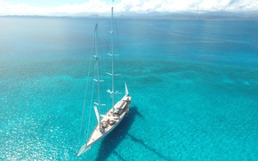Picture sea, yacht, mast, Yacht ATHOS