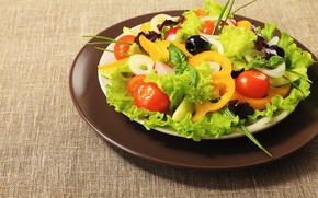 Picture background, Wallpaper, food, wallpaper, pepper, tomato, tomato, widescreen, background, full screen, HD wallpapers, salad, useful, …