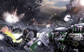 Picture battle, Neil Roberts, warhammer 40K, Galaxy in Flames, Sons of Horus, Death Guard