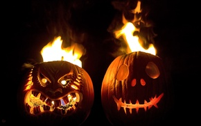 Picture FIRE, NIGHT, FLAME, FACE, LANGUAGES, Facial EXPRESSIONS, Halloween., HEAD, PUMPKIN, HORROR, FEAR, HALLOWEEN