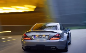 Picture machine, Mercedes-Benz, car, rear view, in motion, AMG, Black Series, SL 65