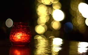 Picture light, red, table, background, fire, widescreen, Wallpaper, mood, candle, blur, Bank, wallpaper, candle, widescreen, background, …