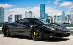 Picture Ferrari, black, 458, Italia