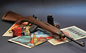 Picture background, cartridges, magazines, clip, carabiner, 22LR, self-loading, M1 Carbine, small-caliber