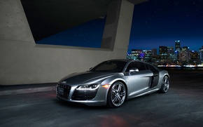 Wallpaper Nightlife, Quattro, Grey, V10, Daytona, Audi, Lightpaint
