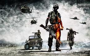 Picture soldiers, equipment, Battlefield, bad company 2, vietnam