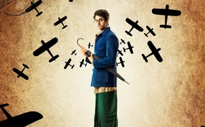 Picture cinema, planes, umbrella, man, movie, glasses, film, Bollywood, official wallpaper, Hindi movie, indian movie, Hawaizaada, …
