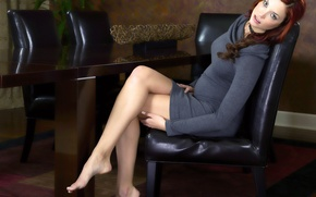 Picture legs, on the chair, beauty