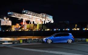 Picture blue, tuning, volkswagen, Golf, golf, blue, Volkswagen, MK6