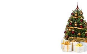 Picture holiday, minimalism, gifts, New year, tree